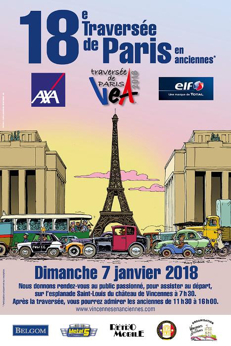 Traversée de Paris des véhicules d'époque                           2018