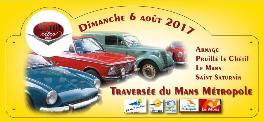 Traversée du Mans avec des véhicules de collection