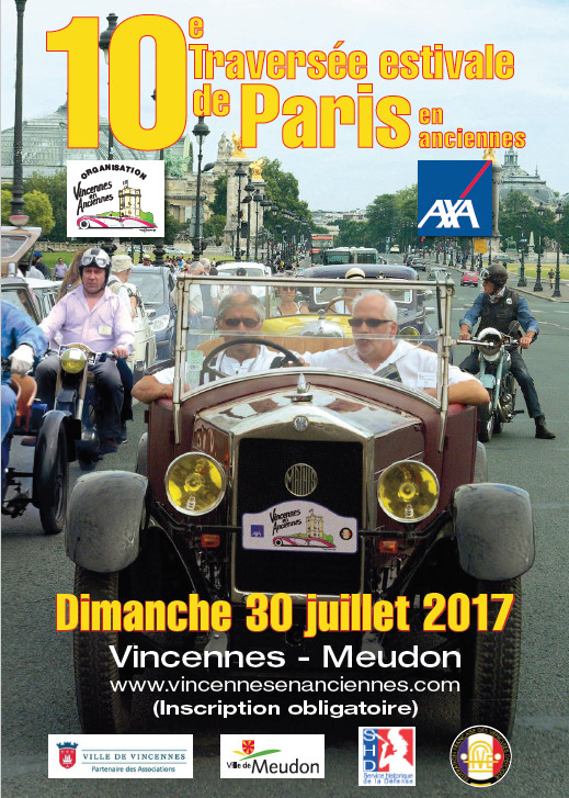 Traversée de Paris estivale véhicules de                           collection