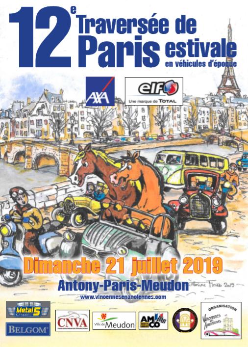 Traversée de Paris estivale 2019