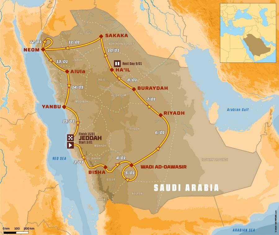 Plan du Dakar 2021