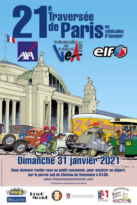 Traversée de Paris hivernale 2021