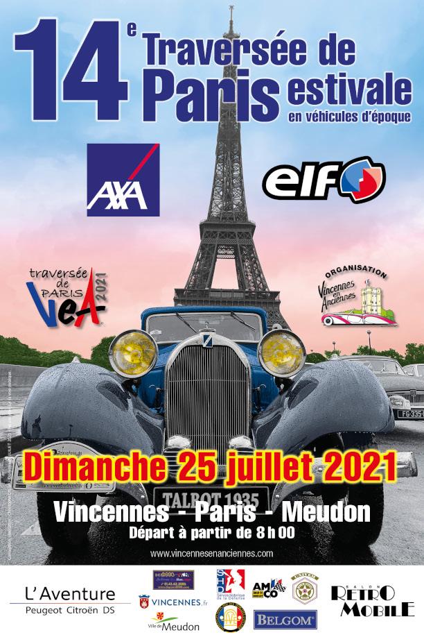 14e Traversée de Paris estivale des véhicules                 d'époque