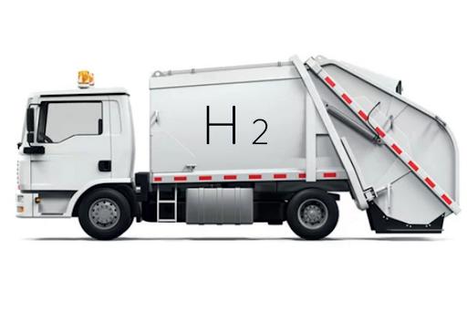 benne à ordures à hydrogène